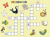 Crossword. Illustration with easy crossword for children Stock Images