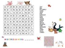 Crossword. Illustration with game for children : crossword Stock Image