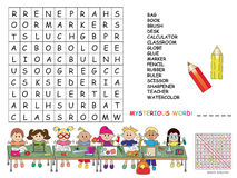 Crossword. Illustration with game for children : crossword Stock Photos