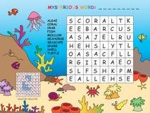 Crossword. Illustration of game for children: crossword Royalty Free Stock Image
