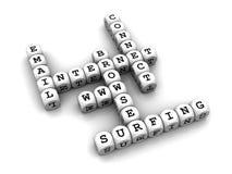 crossword kostka do gry gry internety Fotografia Royalty Free