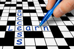Crossword - Learn and Success Stock Photos