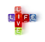 Crossword live life Stock Photography