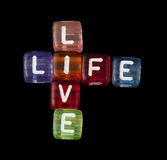 Crossword live life Royalty Free Stock Photos