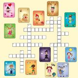 Crossword of months. Crossword for children of months Royalty Free Stock Image