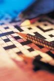 crossword ołówka łamigłówka Obraz Stock
