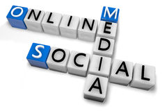 Crossword Online Social Media Stock Image
