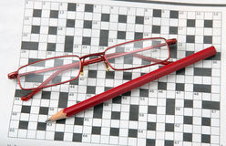 Crossword. Royalty Free Stock Images