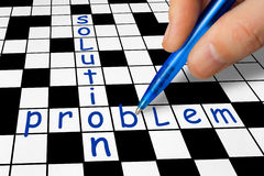 Crossword - Problem and Solution Stock Images