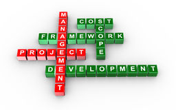 Crossword of project management Royalty Free Stock Photography