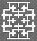 Crossword prześcieradło dla 40 słów Fotografia Royalty Free