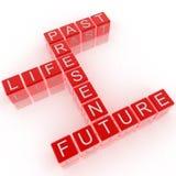 crossword przyszłościowego życia past teraźniejszość Zdjęcia Royalty Free