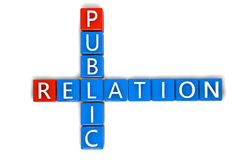 Crossword Public Relation Stock Photo