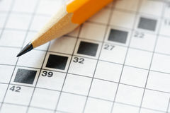 Crossword puzzle Royalty Free Stock Image
