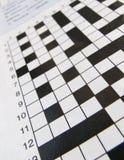 Crossword puzzle Royalty Free Stock Photos