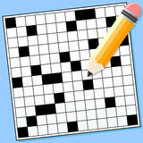 Crossword Puzzle An Illustration Of A Blank And Pencil Background Placed On