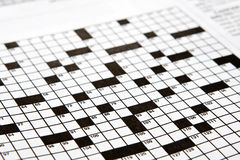 Crossword Puzzle Stock Photos