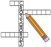 Crossword puzzle Royalty Free Stock Photos