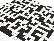 Crossword puzzle. Blank crossword puzzle, black and white Stock Photography