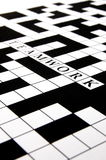 Crossword puzzle. A shot of a crossword puzzle with words on it Stock Photography