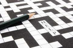 Crossword puzzle. A shot of a crossword puzzle and pen Stock Photography