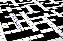 Crossword puzzle. A shot of a crossword puzzle with words on it Stock Photo