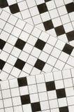Crossword puzzle background Stock Photography