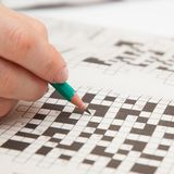 Crossword puzzle close-up Royalty Free Stock Photos