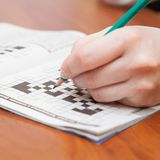 Crossword puzzle close-up Royalty Free Stock Photo