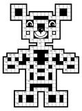 Crossword puzzle - cute bear. Stock Images