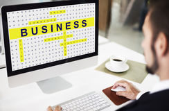 Crossword Puzzle Game Strategy Business Concept Stock Photo