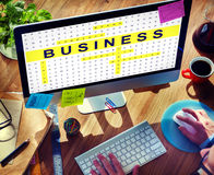 Crossword Puzzle Game Strategy Business Concept Stock Image