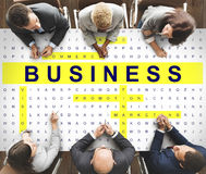 Crossword Puzzle Game Strategy Business Concept Stock Photos