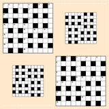 Crossword puzzle grids Royalty Free Stock Photos