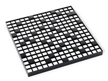 Crossword puzzle isolated on white background. 3D illustration Stock Image