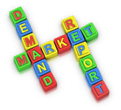 Crossword Puzzle : MARKET DEMAND REPORT Royalty Free Stock Images