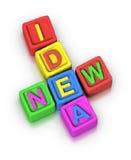 Crossword Puzzle : NEW IDEA Stock Photo