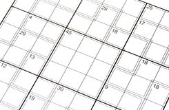 Crossword puzzle with Numbers Royalty Free Stock Images