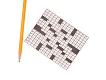 Crossword Puzzle and Pencil Royalty Free Stock Photo