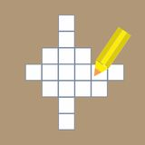 Crossword puzzle with  pencil Stock Images