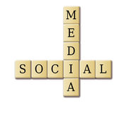 Crossword Puzzle : SOCIAL MEDIA Stock Photos