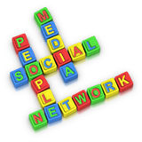 Crossword Puzzle : SOCIAL MEDIA PEOPLE NETWORK Stock Photography