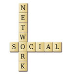 Crossword Puzzle  SOCIAL NETWORK Stock Images