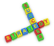 Crossword Puzzle : STRATEGY SUCCESS Stock Photography