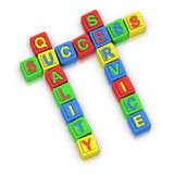 Crossword Puzzle : SUCCESS QUALITY SERVICE Royalty Free Stock Image