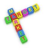 Crossword Puzzle : TARGET MARKET Stock Photo