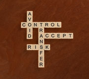 Crossword puzzle with words Avoid, Control, Transfer, Accept. Ri Stock Photography