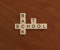 Crossword puzzle with words Back To School. Education concept Royalty Free Stock Image