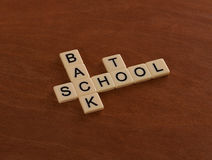Crossword puzzle with words Back To School. Education concept Royalty Free Stock Photo