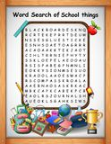Crossword puzzles word find school things for kids games. Illustration of Crossword puzzles word find school things for kids games vector illustration